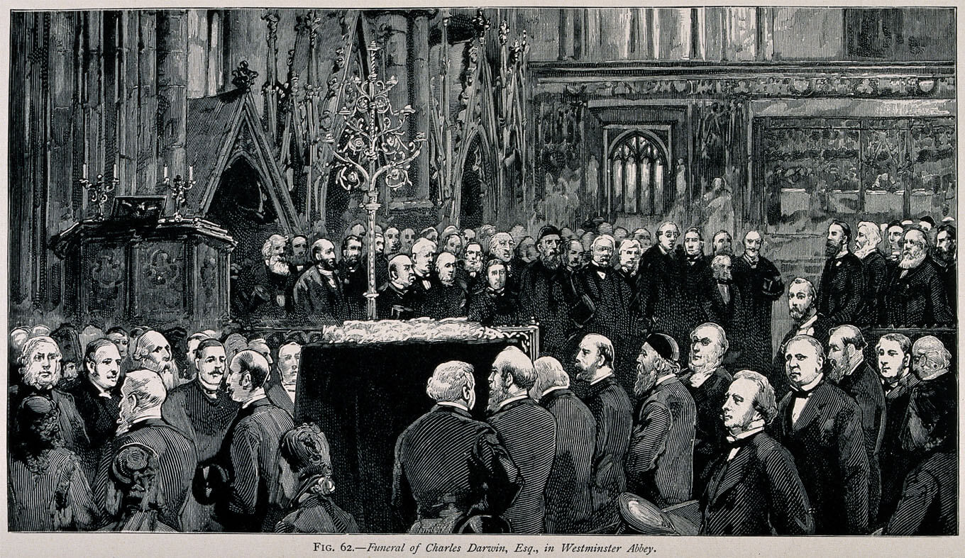 The funeral ceremony of Charles Darwin at Westminster Abbey, 26 April 1882 © Wellcome Images